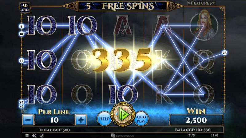 Vikings & God 2 :: Free Spins Game Board