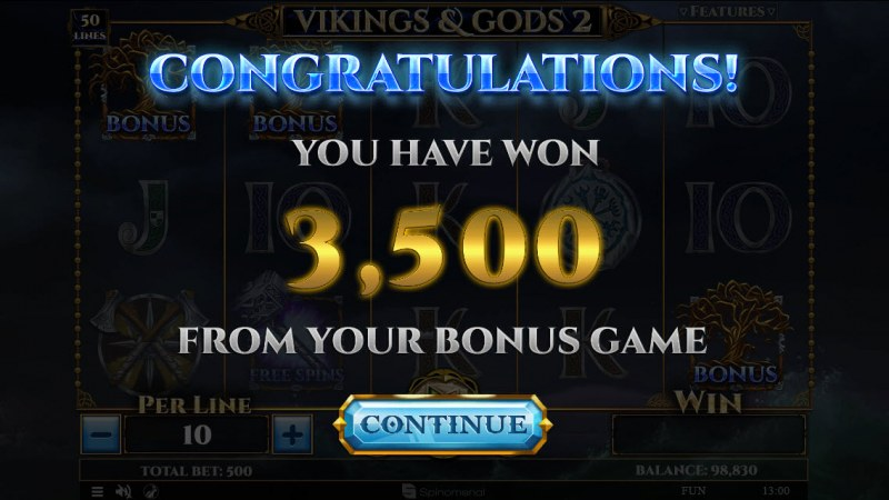 Vikings & God 2 :: Total bonus payout