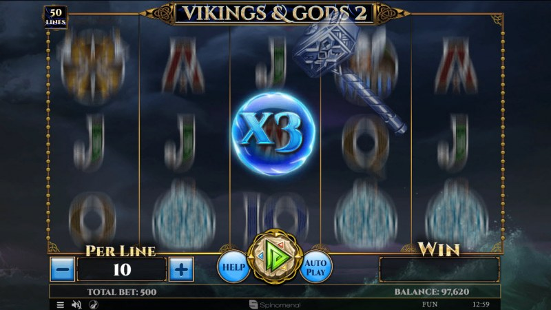 Vikings & God 2 :: 3x Win Multiplier