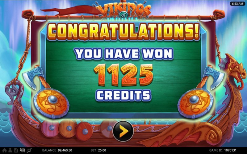 Vikings of Valhalla :: Total Free Spins Payout
