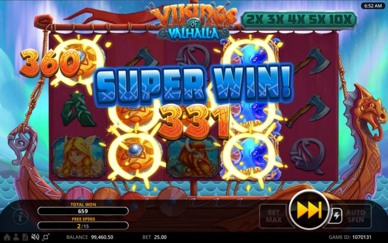 Vikings of Valhalla :: Multiple winning combinations lead to a big win