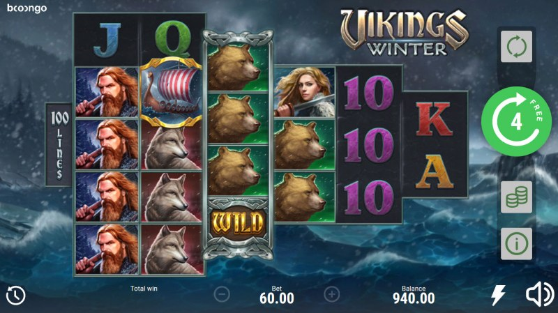 Vikings Winter :: Free Spins Game Board