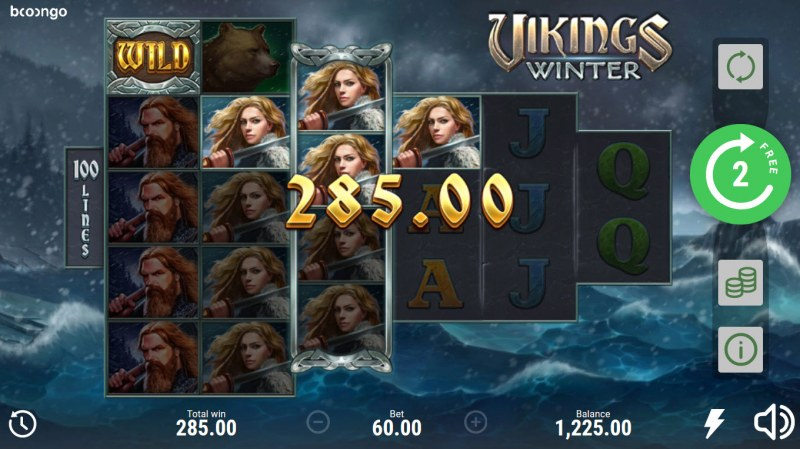 Vikings Winter :: A four of a kind win