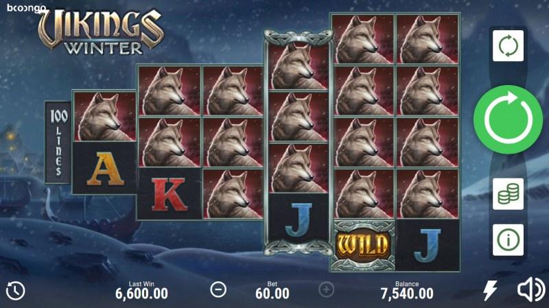 Vikings Winter :: Multiple winning combinations lead to a big win
