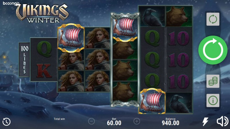 Vikings Winter :: Scatter symbols triggers the free spins bonus feature