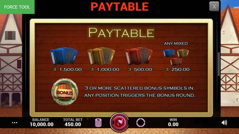 Village Brewery :: Paytable - Low Value Symbols