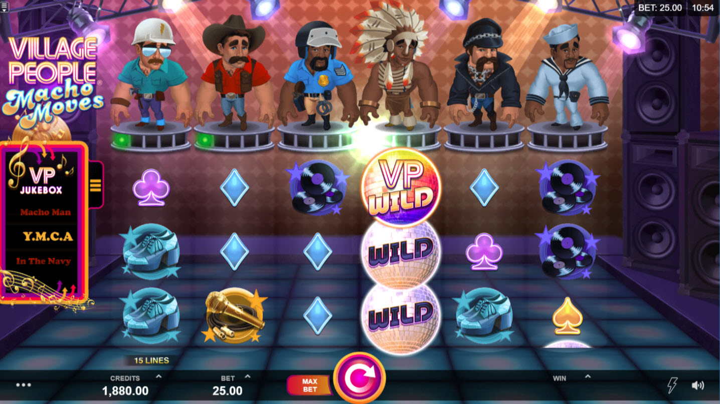 Play slots at Zodiac: Zodiac featuring the Video Slots Village People Macho Moves with a maximum payout of $146,125