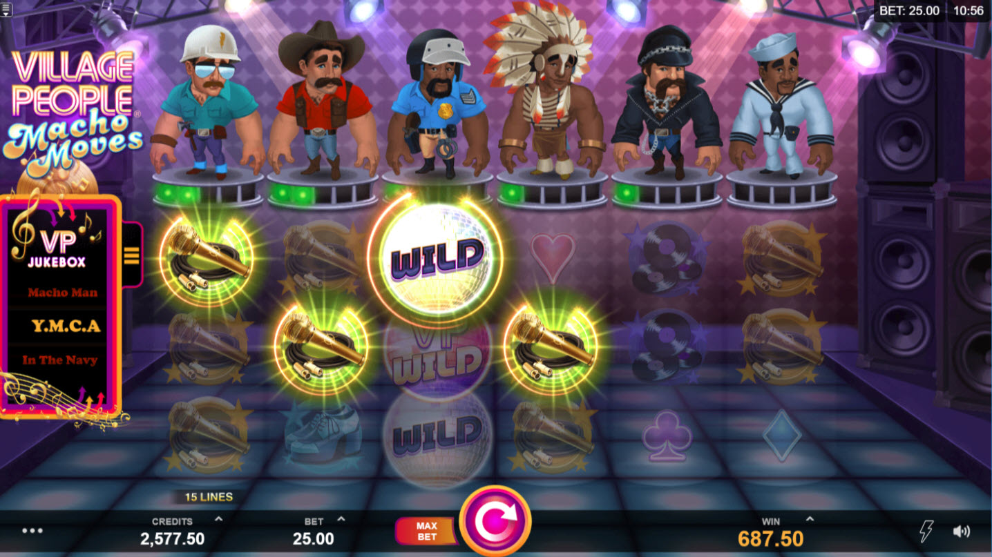 Play slots at Colosseum: Colosseum featuring the Video Slots Village People Macho Moves with a maximum payout of $146,125