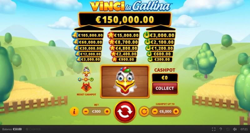 Vinci la Gallina :: Main Game Board