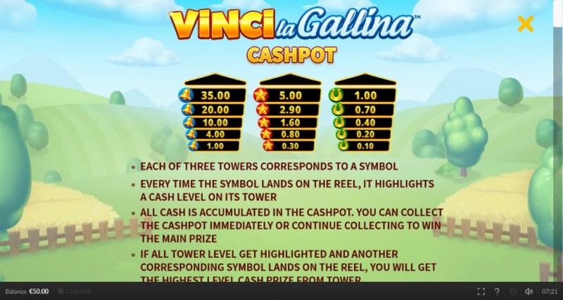 Vinci la Gallina :: Cashpot Rules