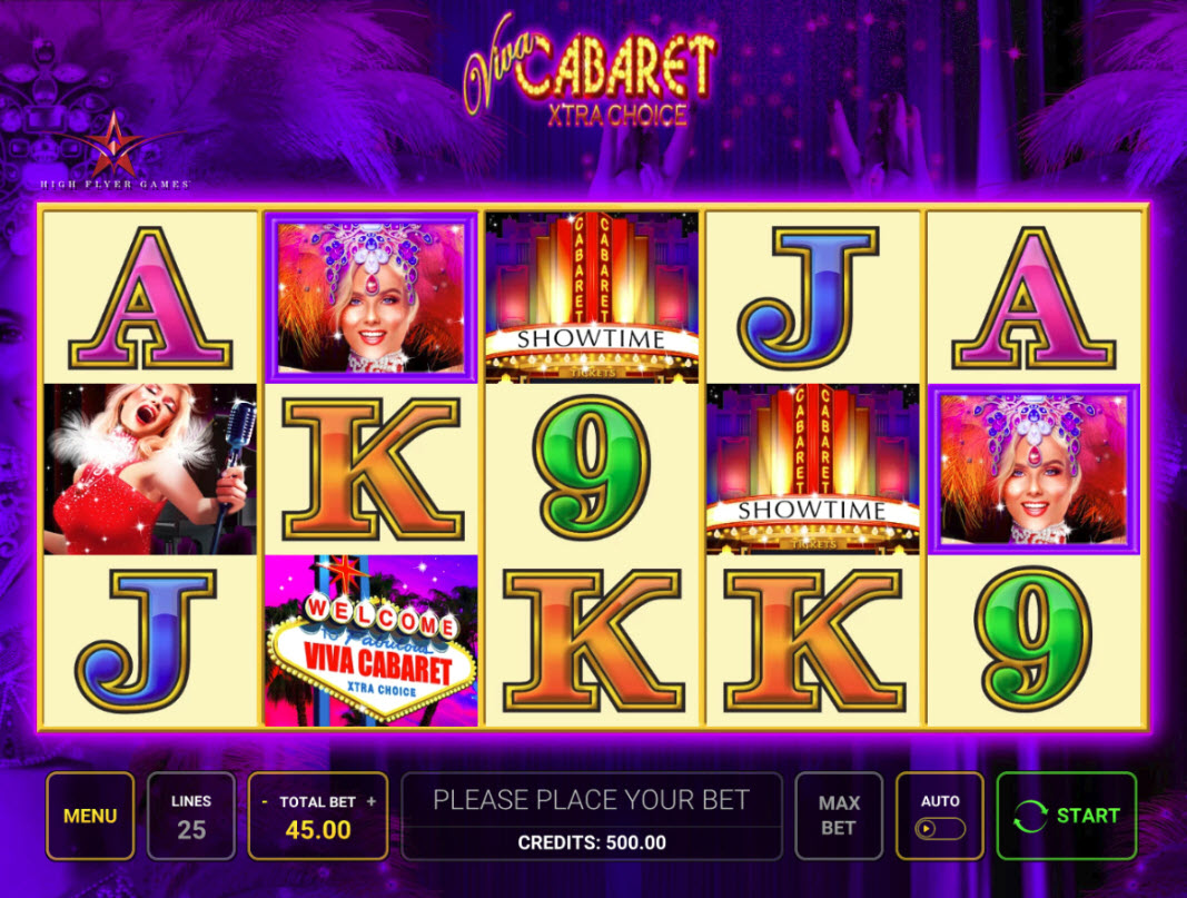 Play slots at Hyper Casino: Hyper Casino featuring the Video Slots Viva Cabaret Xtra Choice with a maximum payout of $11,665
