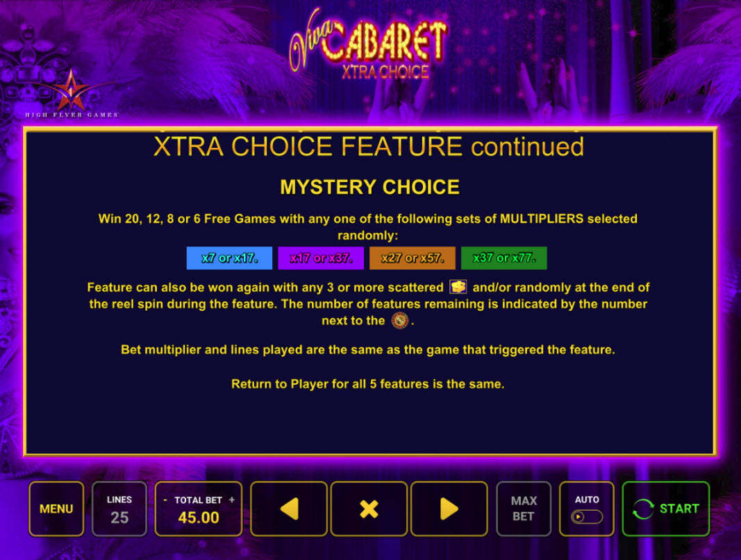 Play slots at Casumo: Casumo featuring the Video Slots Viva Cabaret Xtra Choice with a maximum payout of $11,665