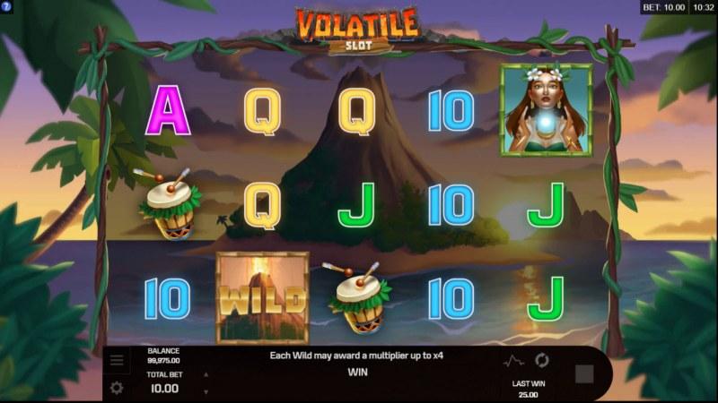 Volatile Slot :: Erupting wild feature activated