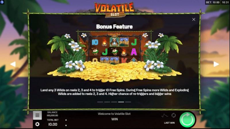 Volatile Slot :: Bonus Game Rules