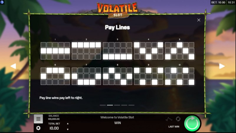 Volatile Slot :: Paylines 1-10