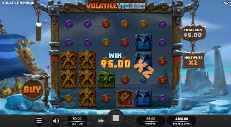 Volatile Vikings :: X2 win multiplier awarded