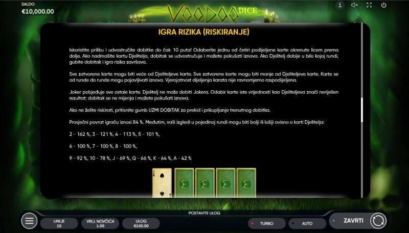 Voodoo Dice :: Gamble feature