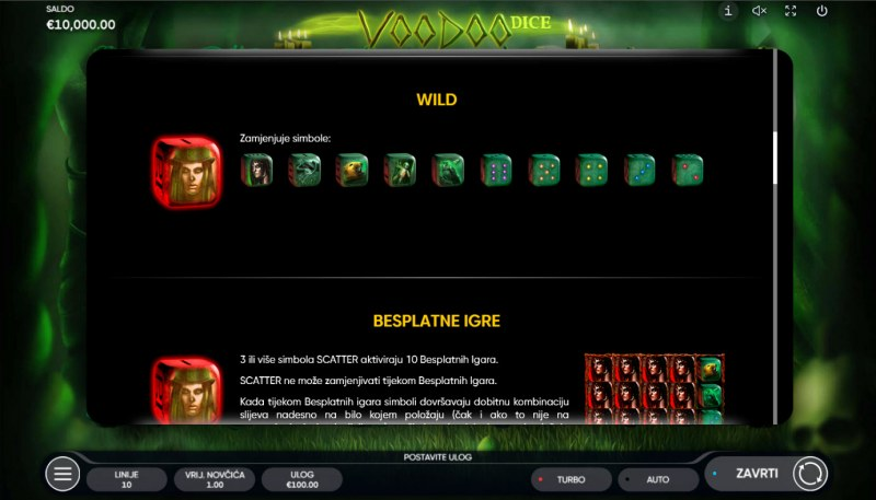 Voodoo Dice :: Wild Symbol Rules