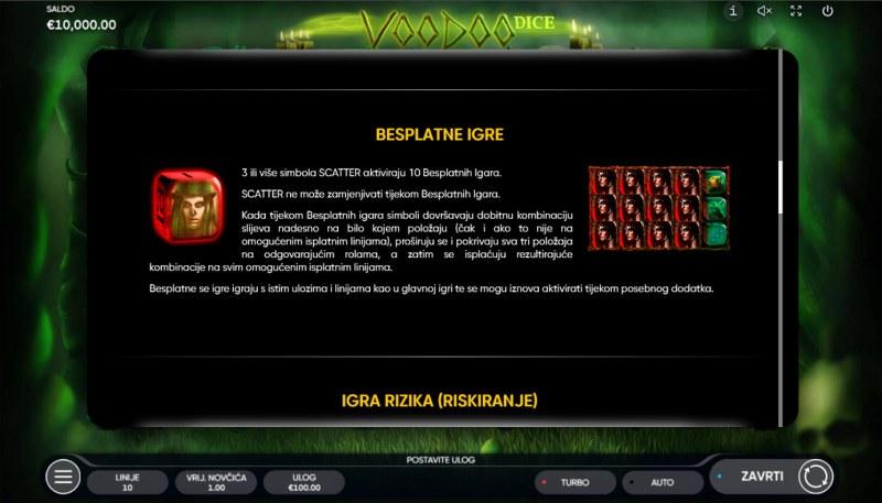 Voodoo Dice :: Scatter Symbol Rules