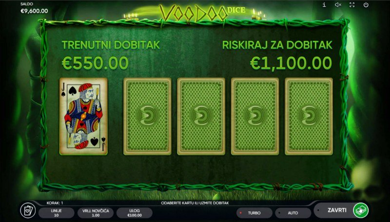 Voodoo Dice :: Red or Black Gamble Feature