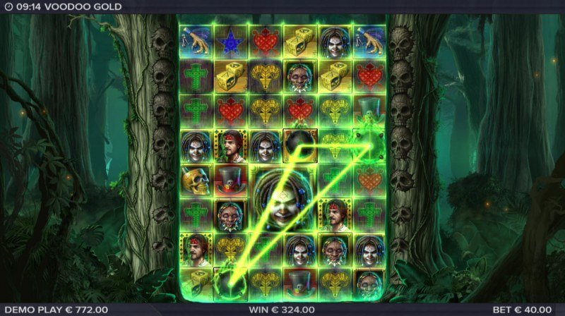 Voodoo Gold :: Scatter symbols triggers the free spins feature