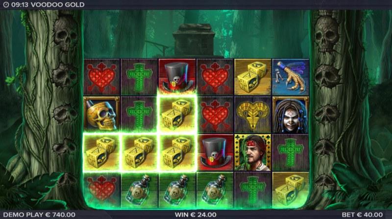 Voodoo Gold :: Multiple winning combinations