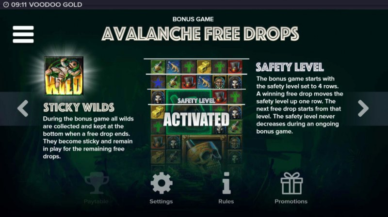 Voodoo Gold :: Avalanche Feature