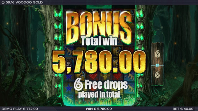 Voodoo Gold :: Total free spins payout