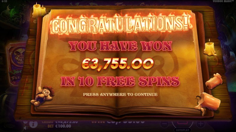 Voodoo Magic :: Total Free Spins Payout