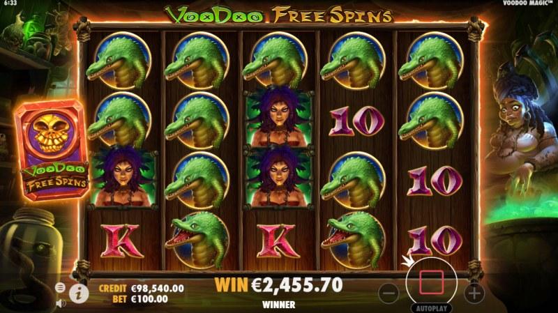 Voodoo Magic :: A five of a kind win