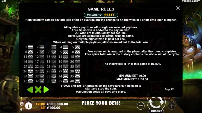 Voodoo Magic :: General Game Rules