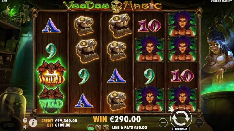 Voodoo Magic :: Multiple winning paylines