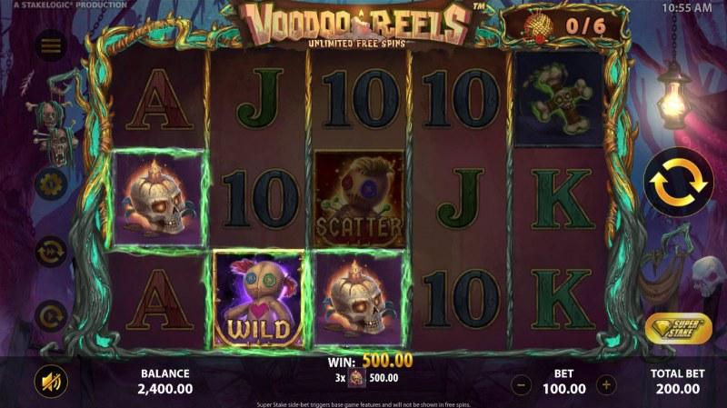 Voodoo Reels :: A three of a kind win