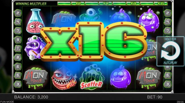 Wacky Monsters :: An x16 win multiplier awarded