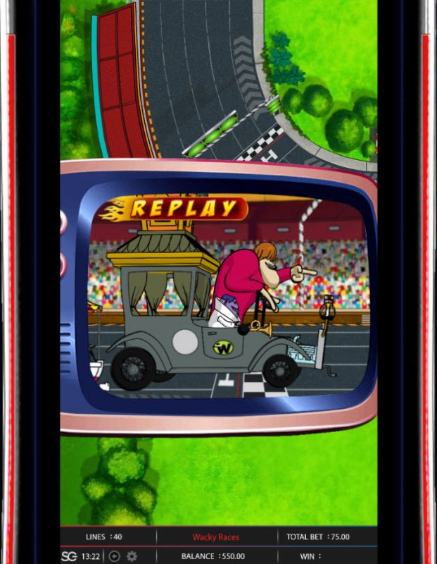 Lucky Bets featuring the Video Slots Wacky Races with a maximum payout of $250,000