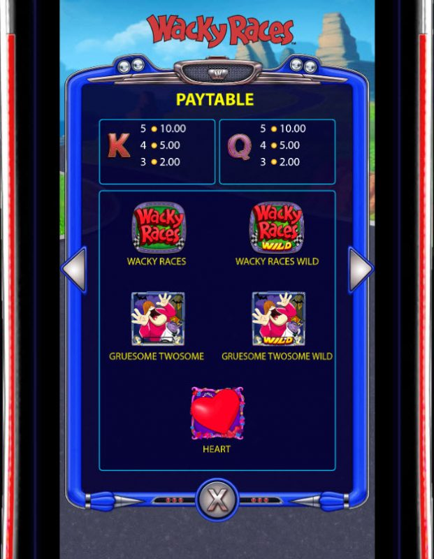 Play slots at Lucky Bets: Lucky Bets featuring the Video Slots Wacky Races with a maximum payout of $250,000