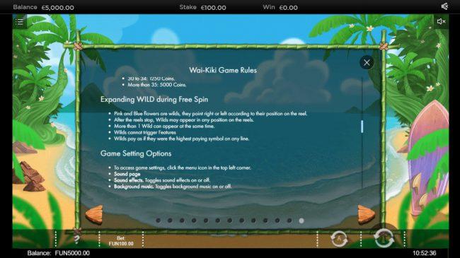 Wai Kiki :: Feature Rules