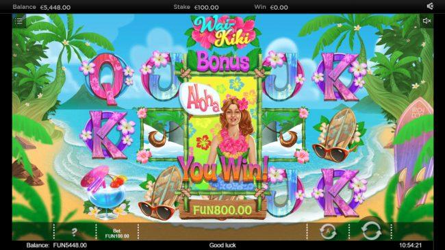 Wai Kiki :: Total Bonus Payout