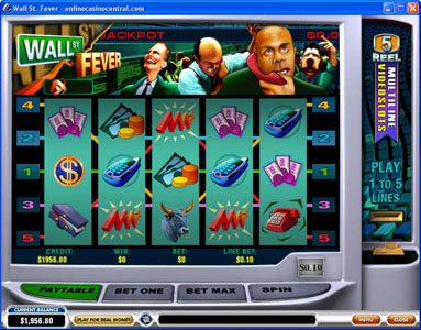 Titanbet.it featuring the video-Slots Wall St. Fever with a maximum payout of $10,000
