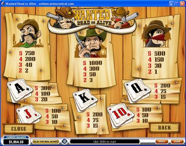 Noble featuring the video-Slots Wanted Dead or Alive with a maximum payout of $500,000