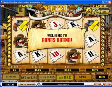 Europlay featuring the video-Slots Wanted Dead or Alive with a maximum payout of $500,000