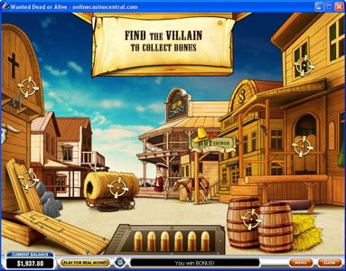 Palace VIP featuring the video-Slots Wanted Dead or Alive with a maximum payout of $500,000