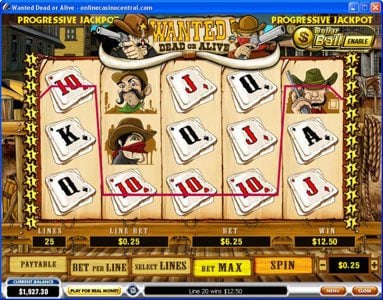 Casino Plex featuring the video-Slots Wanted Dead or Alive with a maximum payout of $500,000