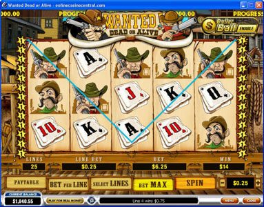 King Solomons featuring the video-Slots Wanted Dead or Alive with a maximum payout of $500,000