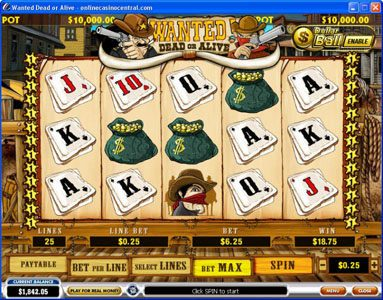 Mr Play featuring the video-Slots Wanted Dead or Alive with a maximum payout of $500,000