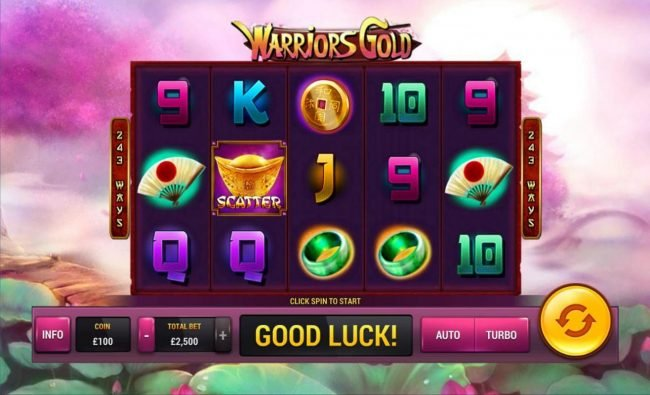 Omni featuring the Video Slots Warriors Gold with a maximum payout of $100,000