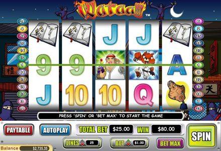 Play slots at Liberty Slots: Liberty Slots featuring the Video Slots Wataa! with a maximum payout of $100,000