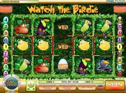 Play slots at Grand Bay: Grand Bay featuring the Video Slots Watch the Birdie with a maximum payout of $50,000