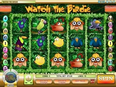 Casino Royal Club featuring the Video Slots Watch the Birdie with a maximum payout of $50,000
