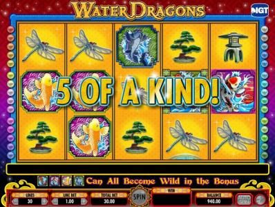 Betfred featuring the Video Slots Water Dragons with a maximum payout of $250,000